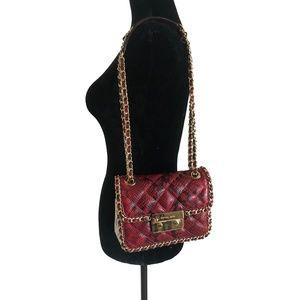 MICHAEL KORS Carine Embossed Leather Shoulder Bag